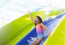 Image of a child at Haven Holidays on a waterslide